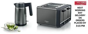 Bosch Anthracite Kettle & Toaster Set TWK5P475GB & TAT5P445GB + 2 Year Warranty