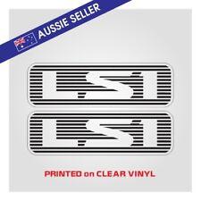 "ST Style "" LS1 "" Stickers PAIR - Suit Nissan Patrol GU Series - PRINT ON CLEAR"