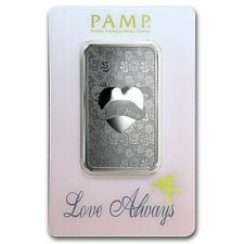 1~OUNCE ~ PURE 999 SILVER ~ LOVE ALWAYS ~ PAMP SUISSE ~SEALED BAR~ $36.88 ~BUY !