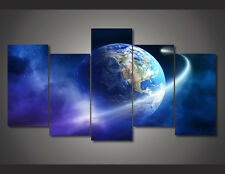 Modern Abstract Oil Painting Wall Decor Art Huge - Earth universe meteor poster