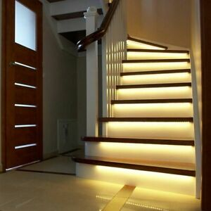 LED Smart Stair Light Under Bed Light PIR Sensor Detector Control Intelligent On