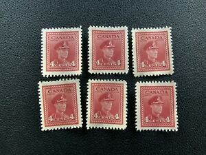 WW2 Canada Canadian War Stamps #281 Lot Of 6