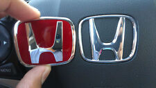 Accord FIT Civic JDM Red steering wheel Type A emblem civic s2000