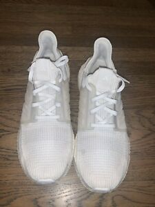Adidas UltraBOOST 19 / US Size 10 Men's / Cloud White / Used with Box
