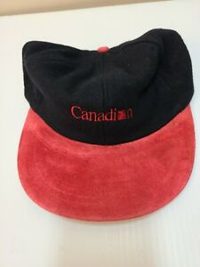 CANADIAN AIRLINES BASEBALL CAP NEW. (  BLACK & RED ) UNUSED.