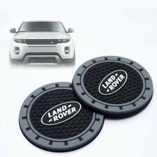 Silicone Car Logo Auto Cup Bottle Holder Pad Coaster Mat fit Land Rover 2pcs