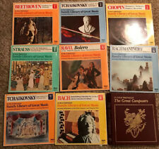 Funk & Wagnails Family library of great music 1-8 Vinyl Records + Binder