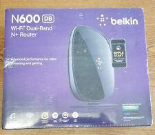 Belkin N600 DB 300 Mbps 4-Port 10/100 Wireless N Router - F9K1102 - NEW SEALED