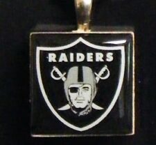 """"""" Nfl Oakland Raiders """" Lifetiles By Wincraft Pendent Charm Jewelry Tile New"""