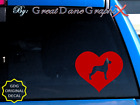 Great Dane #1 in HEART -Vinyl Decal Sticker -Color Choice -HIGH QUALITY