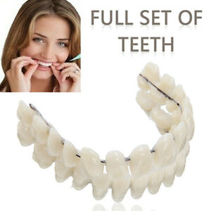 Zahnersatz Dental Zubehör Kunststoffzähne Zahnprothese Dentures Prothese Set