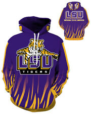 LSU Tigers Hoodie Medium-3XL Lightweight Unisex Men Women Football B