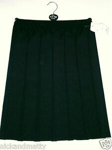 """GIRLS-LADIES ALL ROUND BOX PLEATED SKIRT; SCHOOL-PARTY-DRESS UP;  TO 36"""" WAIST"""