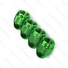 GREEN Metallic Alloy Metal Steel Dust Valve Wheel Tyre Caps (DC4) MC17/10