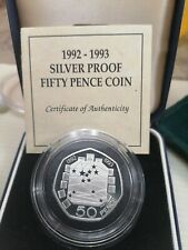 Willie : 1992-1993 Silver Proof Fifty Pence Coin