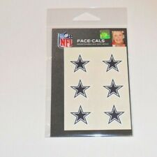 DALLAS COWBOYS 6 TEMPORARY FACE TATTOOS FACE-CALS FAST FREE SHIPPING
