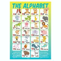 The Alphabet Educational Poster, Pre-School Early Learning, Homeschooling Kids