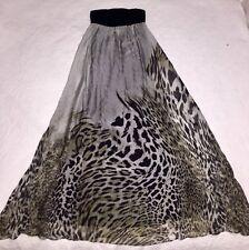 GEORGE Silk Strapless Long Maxi Dress Size 8 Black Khaki Beige