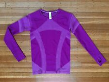 Ivivva by Lululemon Swiftly Tech Fly Purple Long Sleeve Sport Athletic T Top 14