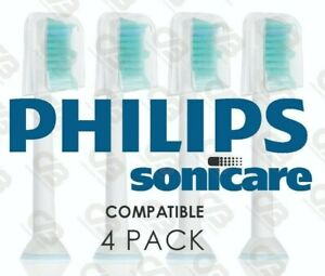 Philips Sonicare Compatible Toothbrush Heads Phillips With Caps Head 4 Pack