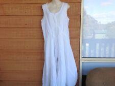 Demgirl long white boho dress - cotton lined - large