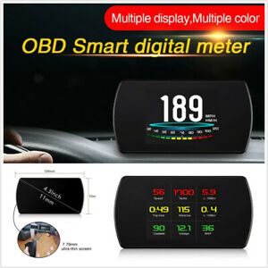 Multi-function Car On-Board Computer OBD Head Up Display Digital Speed Projector