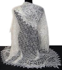 Châle Blanc femme - Châle Mariage Hiver - achat Pashmina Russe tricoté af9aa7648d1