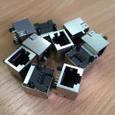 10Pcs RJ45 Network Ethernet 8P 8C Female Socket Connectors PCB Mount EC