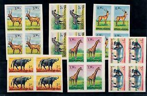 [G26740] Burundi : Fauna - Good Lot of Very Fine MNH Imperf Stamps/Blocks of 4