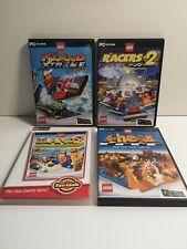 Lego PC Games x 4 - Island Xtreme, Racers 2, Island 2, Chess (982)
