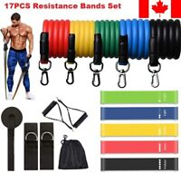 17Pcs Set Resistance Bands Workout Exercise Yoga Crossfit Fitness Training Tubes