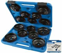 """Silverline Oil Filter Removal Tool Wrench Socket Set 65 - 93mm  3/8"""" 1/2"""" Drive"""
