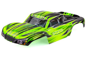 HSP 1/10 Storm BL Short Course Truck Painted Green Body Shell
