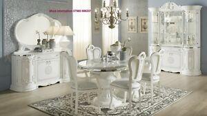 Greta Italian dining table & chairs - 100% made in Italy - White Italian Table
