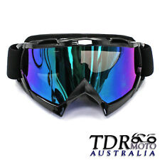 Motorbike Driving Plastic Rimmed Protective Goggles Glasses Black for Man TDR