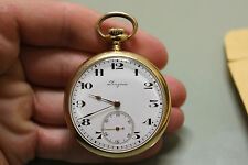 Longines Pocket Watch 14k Gold Railroad 1921 Porcelain Dial Working
