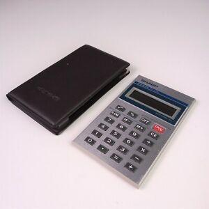 Very nice SHARP Elsimate EL-838 Pocket Calculator + original case, JAPAN