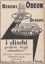 Z3553 Dischi ODEON Fonotipita - Pubblicità d'epoca - 1929 vintage advertising
