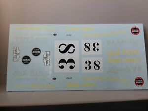 1/43 decals ONLY- LINCOLN CLUB COUPE- I Carrera Panamericana 50 Johnny Mantz