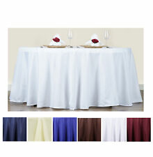"""70"""" Round Polyester Tablecloth For Wedding Party Banquet Events Decoration"""