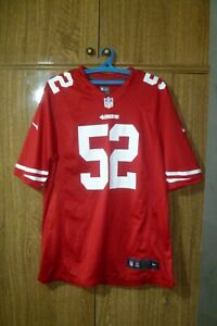 San Francisco 49ers Nike NFL Jersey #52 Patrick Willis Red Football Men Size L