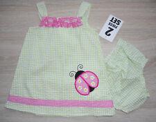 Baby Mädchen Sommer Set 💕 2tlg 💕 Kleid mit Höschen 💕 MARIENKÄFER 💕 62-74