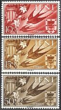 Colonias españolas Ifni 1958 ayuda Valencia Aves Golondrina Swift 142 - 144 estampillada sin montar o nunca montada Fino