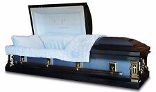 Funeral Casket In God's Care Spruce Blue Finish / Light Blue Interior Coffin 18G