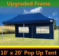 10'x20' Pop Up Canopy Party Tent - Navy Blue - F Model Upgraded Frame
