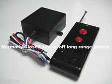 MSD INC 12V NORMALLY-CLOSED on/off long range remote control switch RS30P