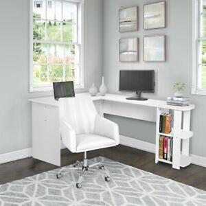 L-Shape Computer Desk Home PC Laptop Corner Gaming Table with Shelf Workstation