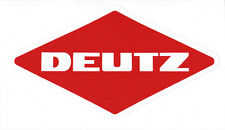 DEUTZ Aufkleber  Logo Emblem Sticker Label Baureihe 05 23x12,8 cm.
