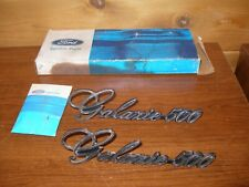 1972 1974 Nos Ford Galaxie 500 Roof Panel Emblems Pair