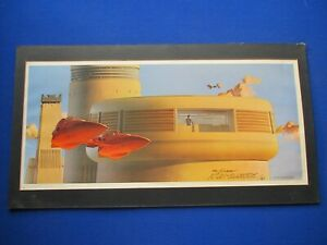 Star Wars - Ralph McQuarrie :  vintage hand signed 'Empire Strikes Back ' Print